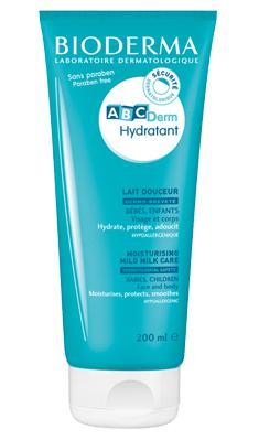 Lait hydratant très doux Bébé ABCDerm - Peau douce, visage + corps